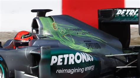 viz car test mercedes w03 racecar engineering