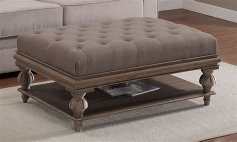 large white tufted ottoman large tufted ottoman coffee table home design