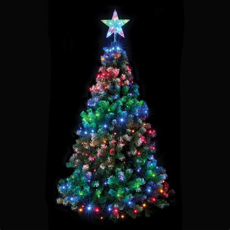 christmas tree net light with star multi coloured chasing
