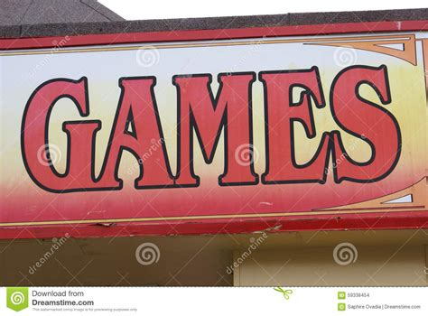Games Sign Stock Photo Image Of Place Billiards