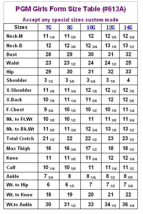 pgm girls dress form measurement chart sewing pinterest girls dresses charts  girls