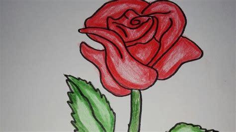 mewarnai gambar bunga mawar coloringpagesasia