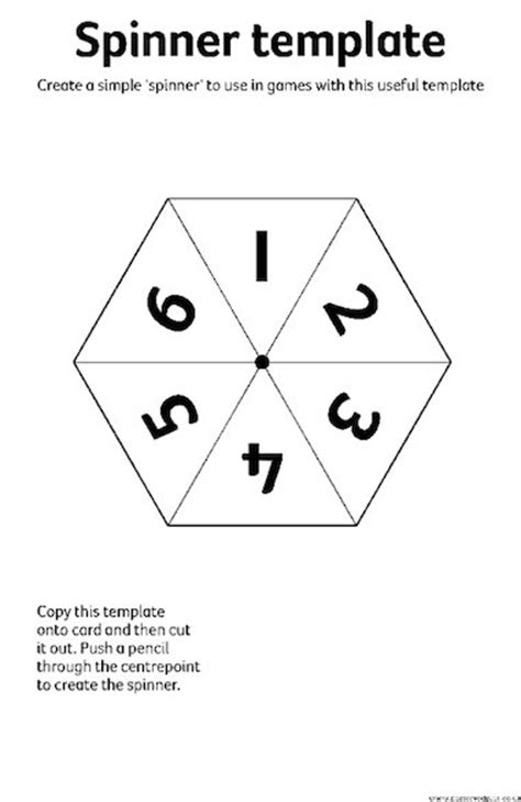 spinner template spinner template early years teaching resource scholastic