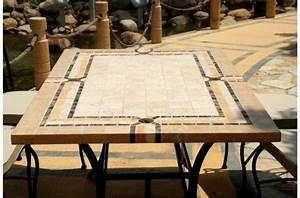 Table De Jardin Mosaique : table rabattable cuisine paris table de jardin en fer forge mosaique ~ Teatrodelosmanantiales.com Idées de Décoration