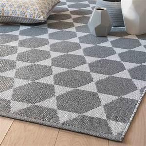Tapis Gris Blanc : tapis en pvc gris blanc 90 x 150 cm hailey maisons du monde ~ Teatrodelosmanantiales.com Idées de Décoration