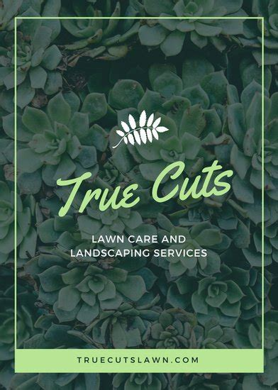 customize  landscaping flyer templates  canva
