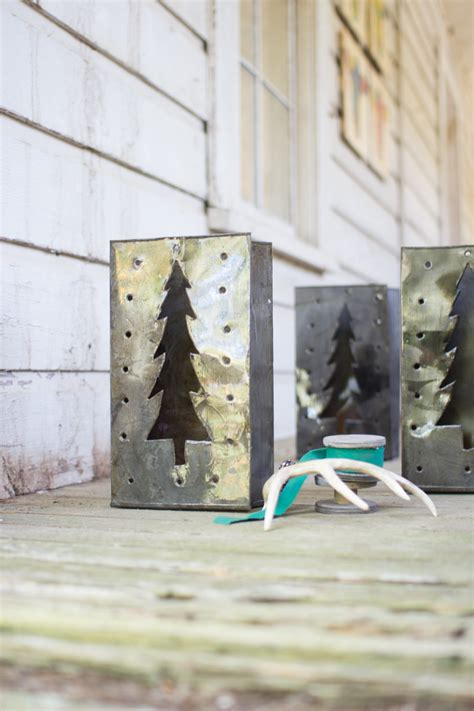 set   tin bag christmas tree lanterns