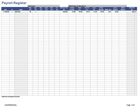 payroll template  employee payroll template  excel