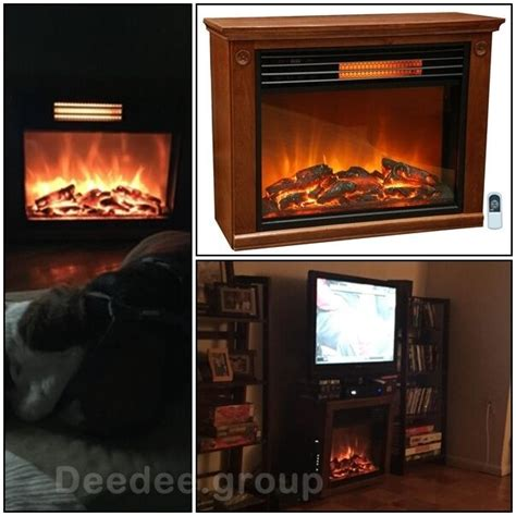 infrared fireplace electric tv stand heater flame decor