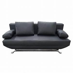 Kunstleder Couch Schwarz : schlafsofa couch mit bettkasten in schwarz oder weiss 3 sitzer kunstleder modern ebay ~ Watch28wear.com Haus und Dekorationen