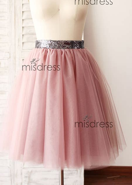 gray sequin belt mauve tulle skirt