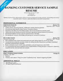 customer service representative resume bank bank customer service resume sle