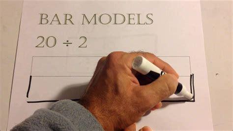 modeling bar models  division  grade youtube