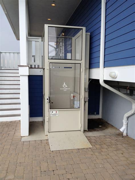 exterior wheelchair platform lift handicapped accessible