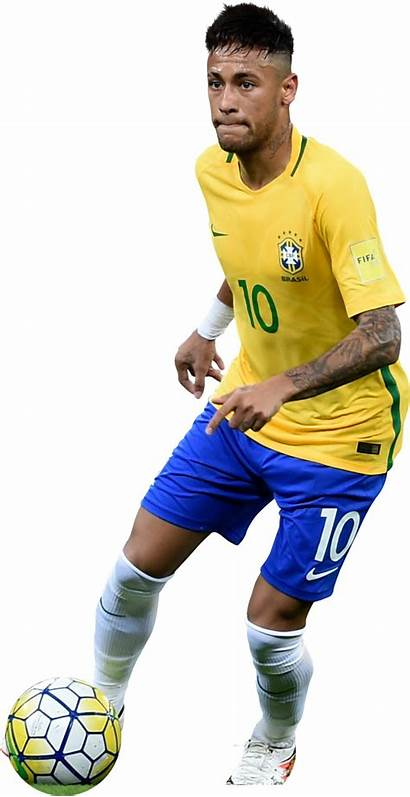 Neymar Football Render Brazil Transparent Bresil Freeiconspng
