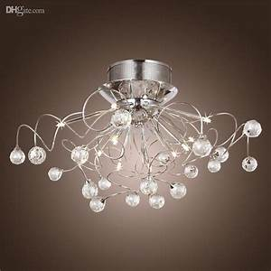 Modern crystal led chandelier ceiling light fixture