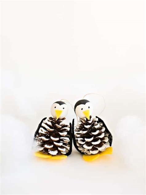 wonderful cute pine cone penguin ornament craft