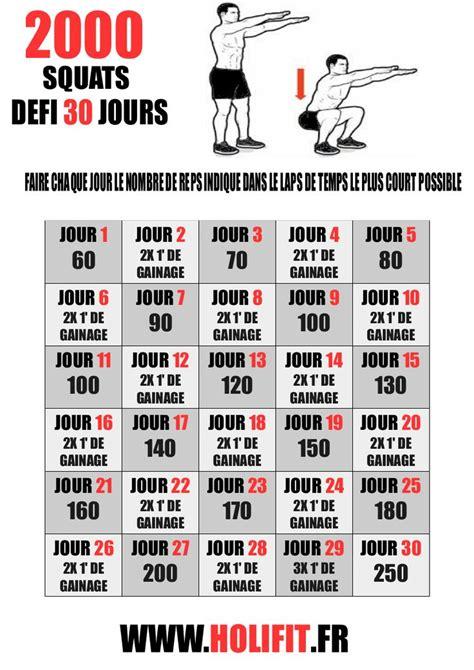 programme salle de sport perte de poids d 233 fi 30 jours 2000 squats holifit coach sportif hiit conseil musculation programme