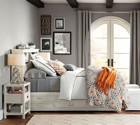 pottery barn bedroom lonny storage bed pottery barn