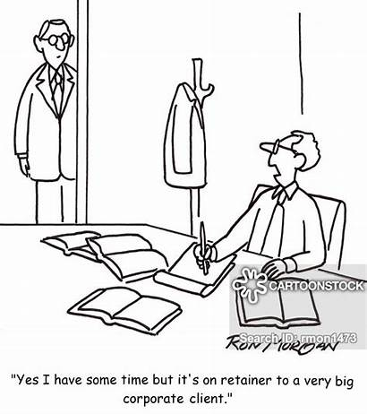 Client Retainer Cartoon Corporate Cartoons Funny Lawyer