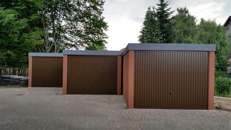 Fertiggarage Schnell Und Individuell by Fertiggarage Typ Stahl Garagenbox G 252 Nstige