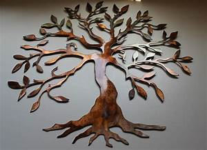 Olive Tree - Tree of Life Metal Wall Art