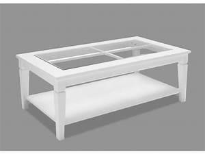 Table Basse Pin : table basse guerande pin blanc et verre tremp ~ Teatrodelosmanantiales.com Idées de Décoration
