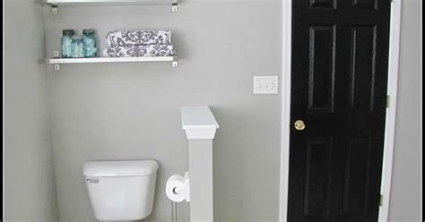 bathroom makeover paint color graceful gray  behr