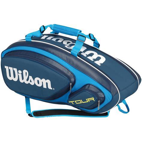 wilson    pack bag blue tennisnutscom