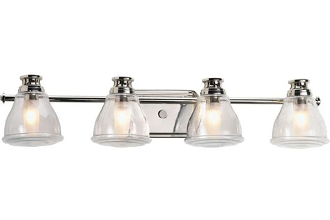 Traditional Bathroom Lighting Fixtures by Progress Lighting P2813 15wb Polished Chrome Academy Four
