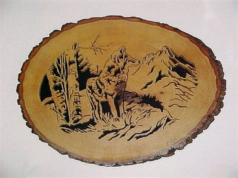 lone coyote scroll  woodworking crafts photo