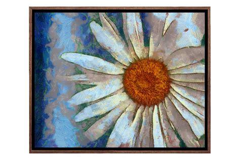 buy abstract daisy canvas wall art print