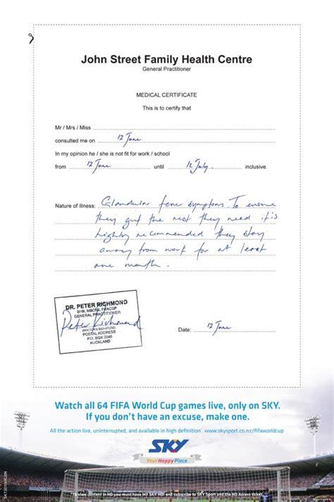 fake medical certificate  task list