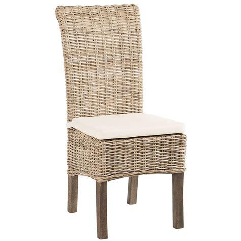 le bureau rouen chaise en rotin kubu blanchi