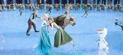 Frozen Ice Olaf Winter Skating Disney Anna