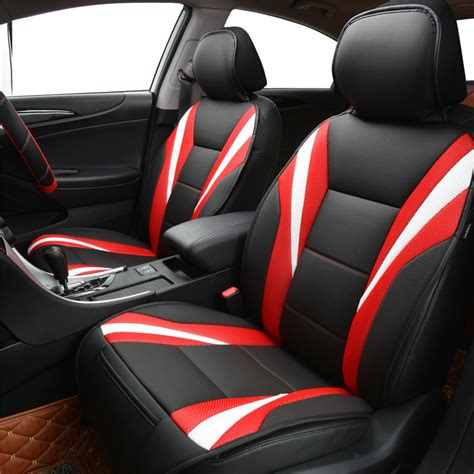 Upholstery On Cars by New Breathable Pu Leather Car Seat Covers Pad Fit For Most