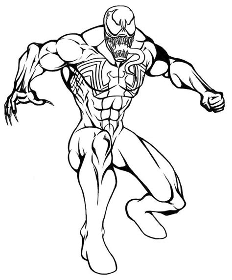 marvel carnage  venom coloring pages coloring pages