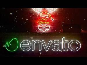 After Effects Template Neon Christmas Logo Reveal
