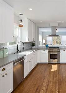 farmhouse inspired white kitchen ideas martha stewart With kitchen colors with white cabinets with sticker project paper