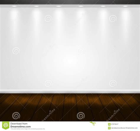 vector presentation white wall scene with spotlight and