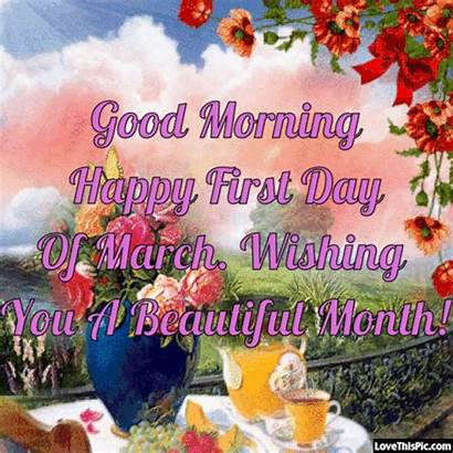 Morning March Happy Month Quotes Hello Sunday