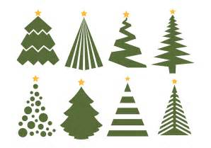 free vector christmas tree vector set on white background 11760 my graphic hunt