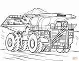 Truck Coloring Camion Caterpillar Mining Printable Colorear Dessin Dibujos Coloriage Imprimir Scania Colorare Excavator Monster V8 Template Kleurplaat Disegni Disegno sketch template