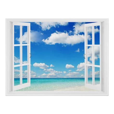 Offenes Fenster Bild by Offenes Fenster Am Strand Poster Zazzle