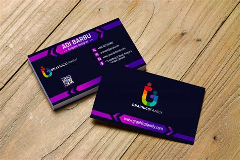 elegant dark business card design graphicsfamily