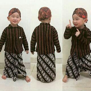 baju jawa lurik surjan untuk anak baju anak adat tradisional jawa surjan lurik set blangkon
