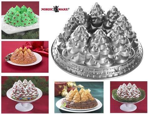 nordic ware christmas tree cake pan nordicware tree bundt 10 cup snowy pine ring cake new ebay