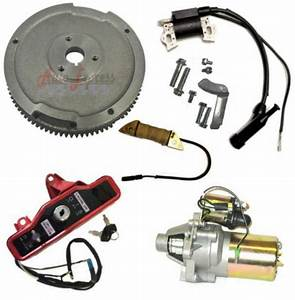 Honda Gx390 13 Hp Electric Start Kit Flywheel Starter Motor Key Box   New 2013