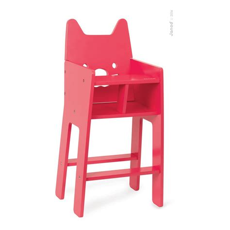 chaise haute pour poupee chaise haute pour poupée babycat janod jeux