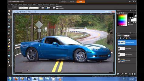 corel paint shop pro x5 hd tutorial how to change car